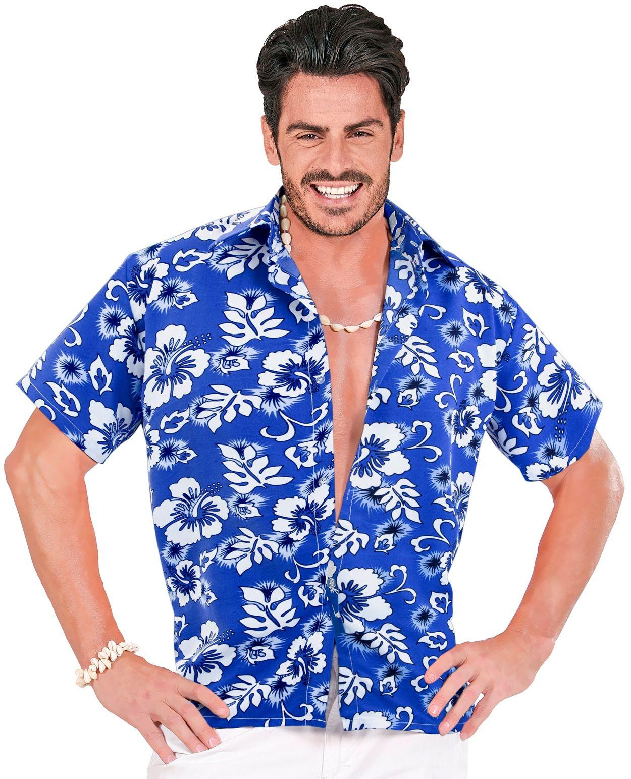 Hawaï blouse blauw