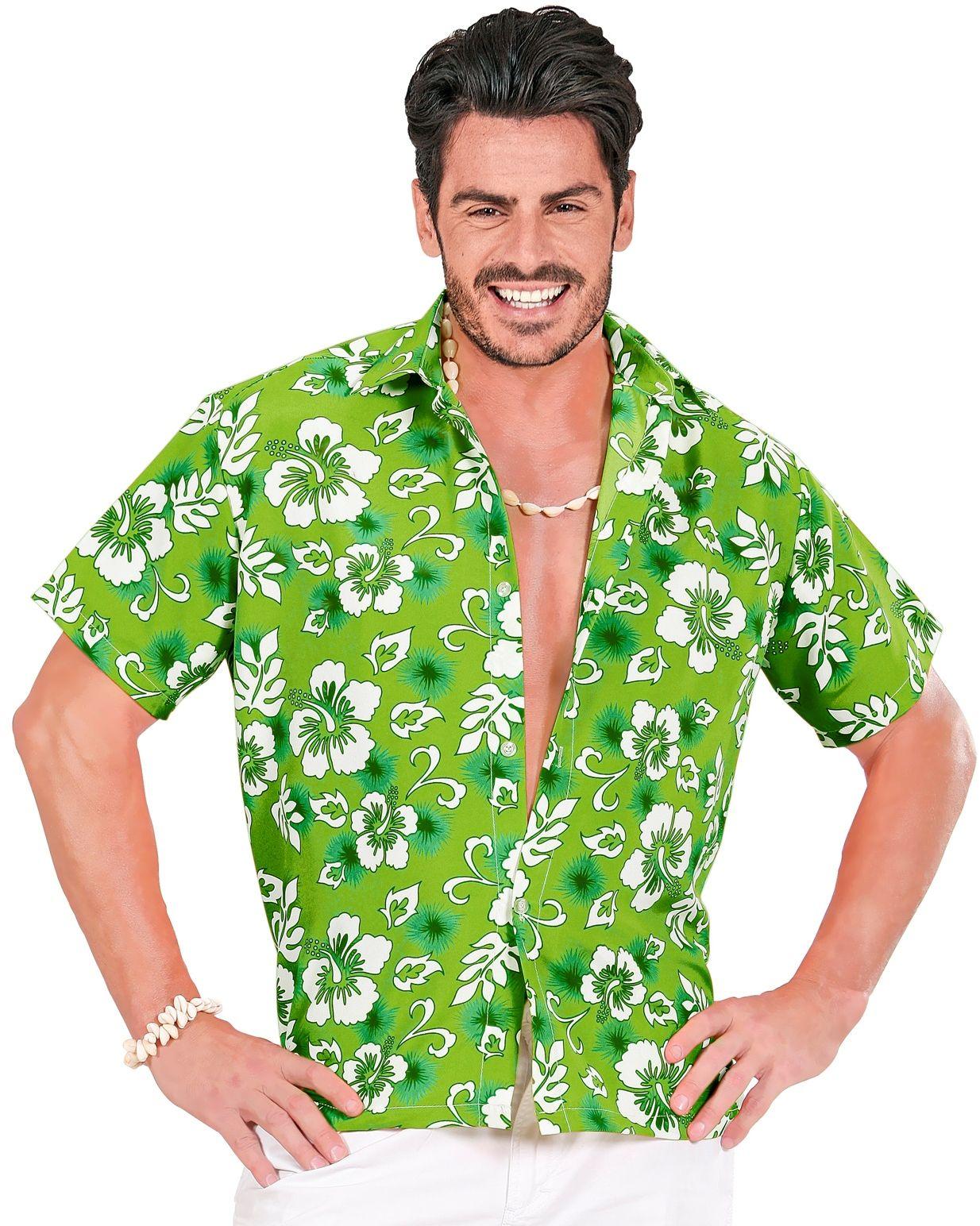 Hawaï blouse groen