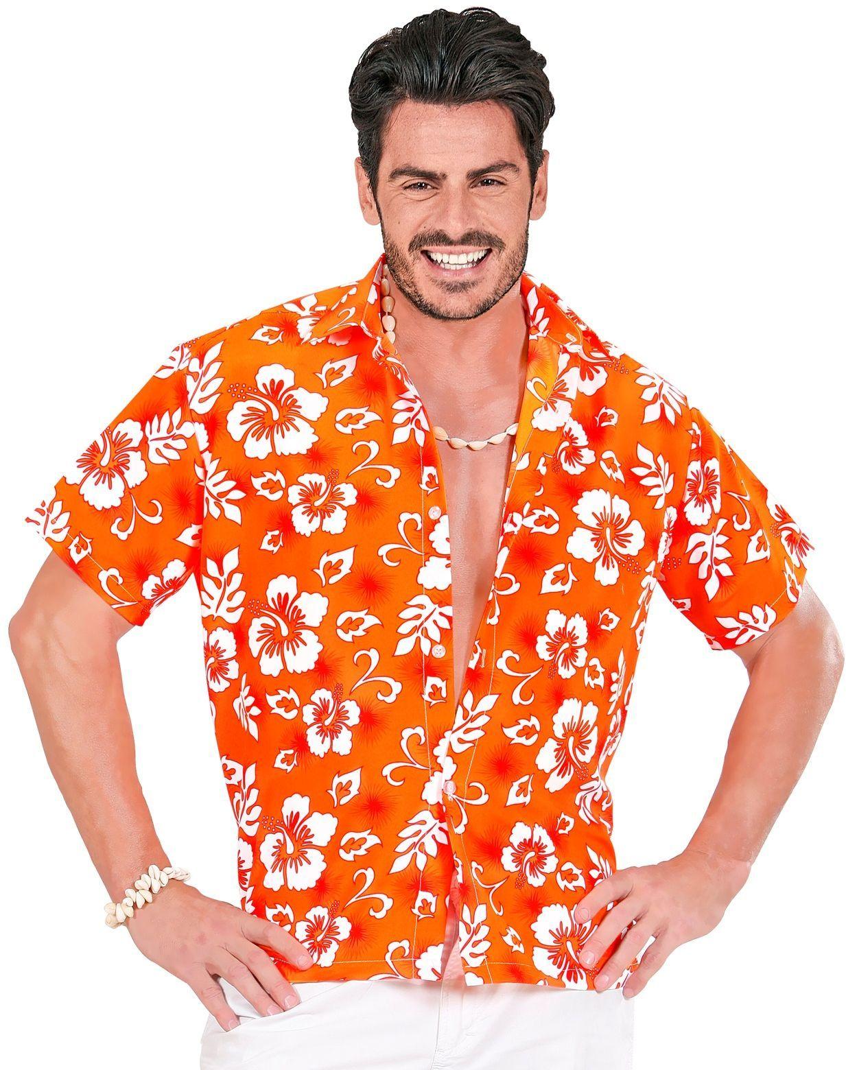 Hawaï blouse oranje