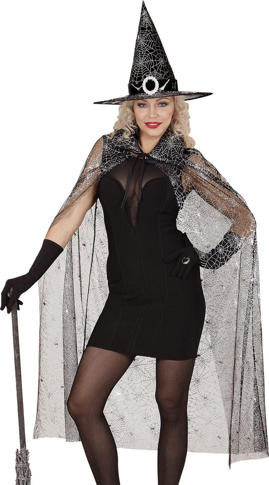 Heks cape en hoed dames One-size-volwassenen