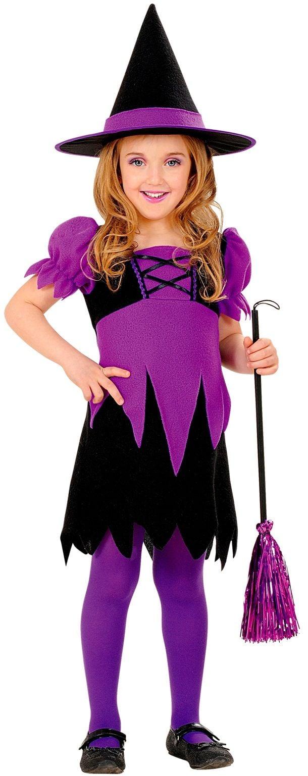 Heks jurkje paars Halloween