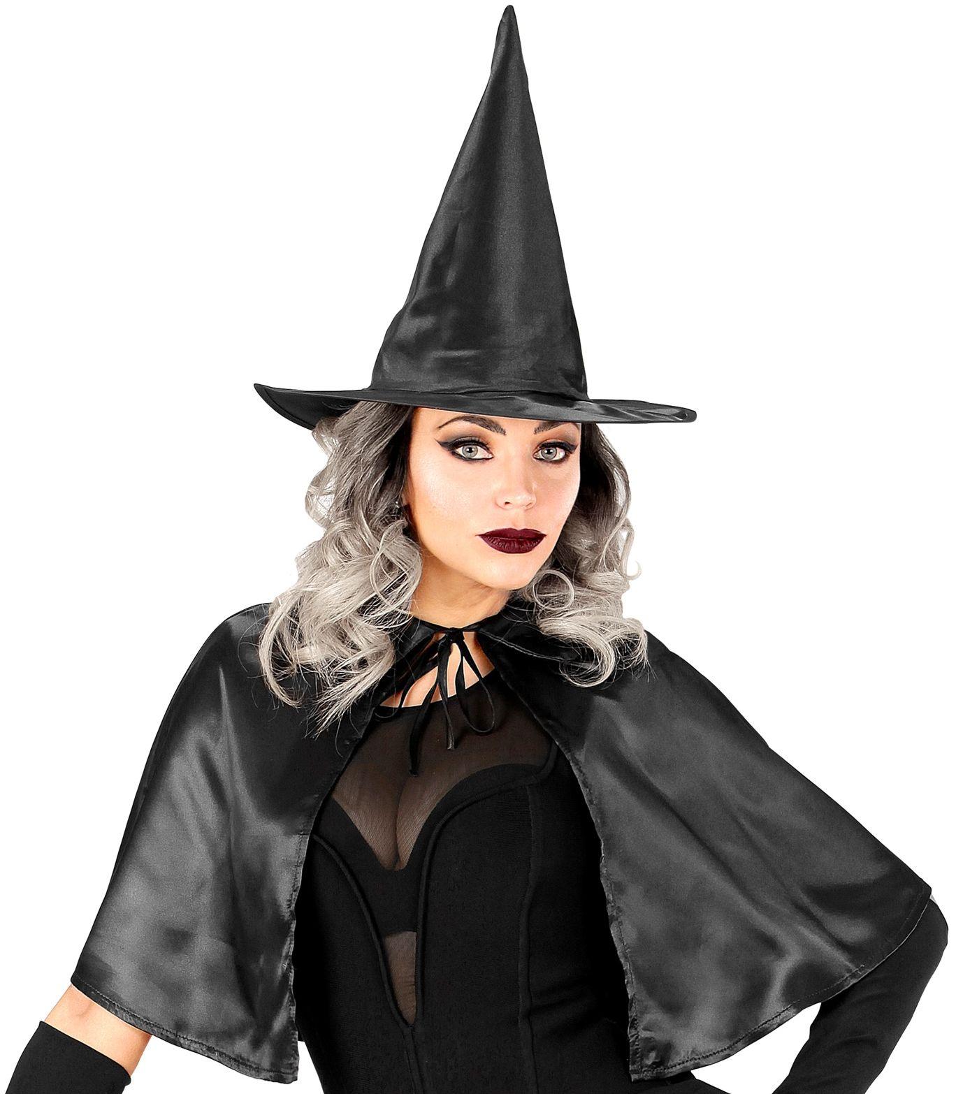 Heksen cape met hoed