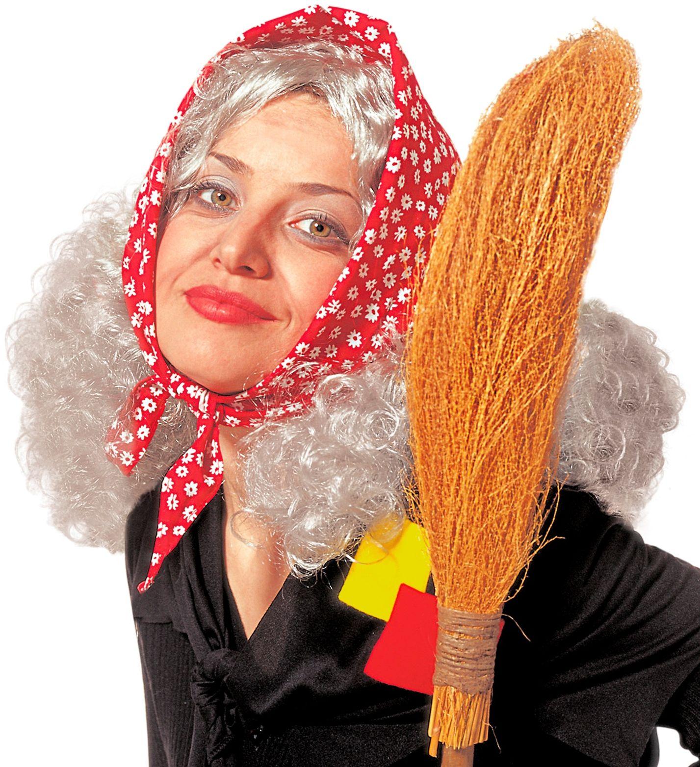Heksen pruik met hoofddoek