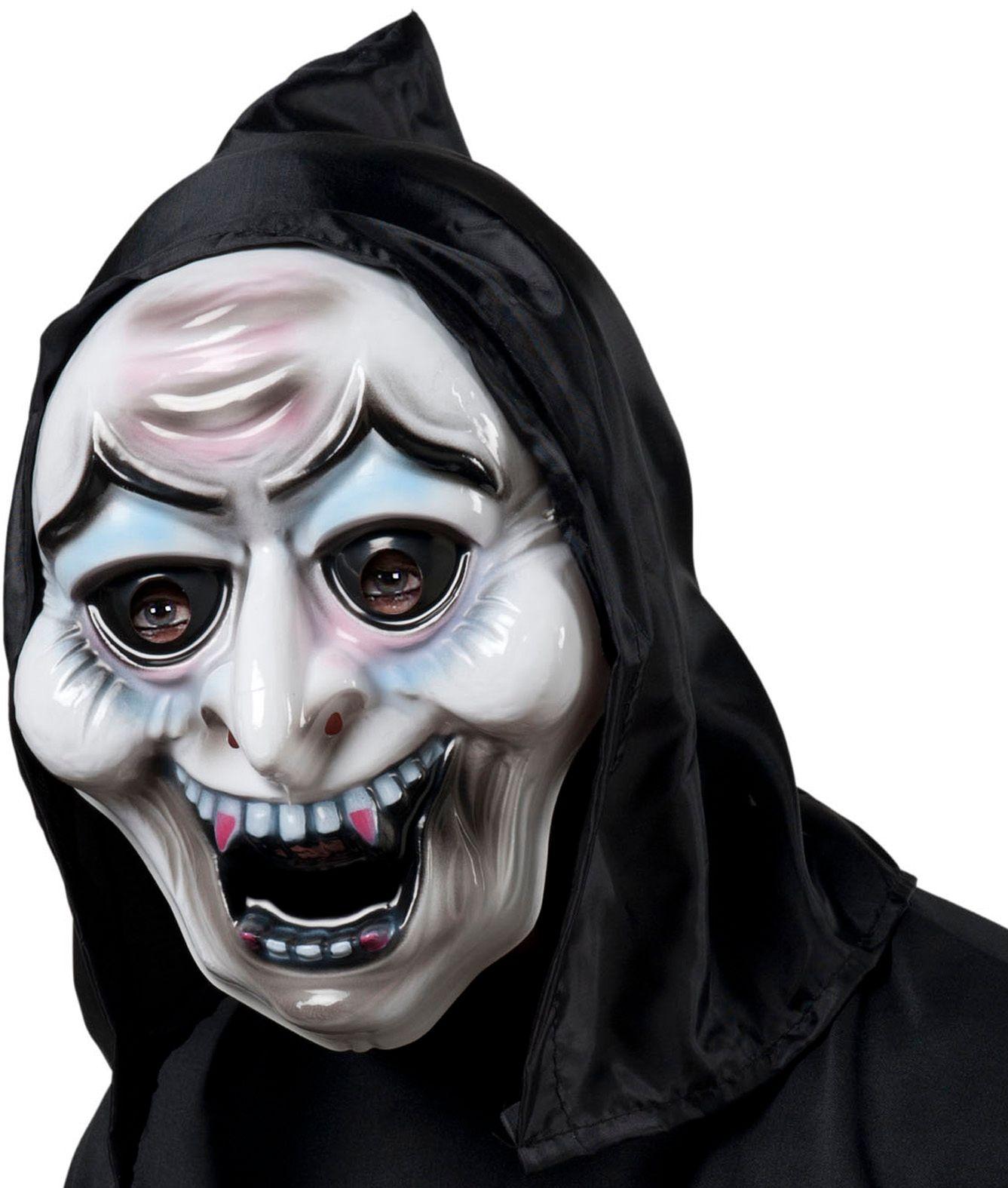 Heksenmasker met kap pvc