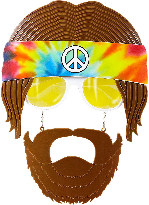 Hippie bril met baard