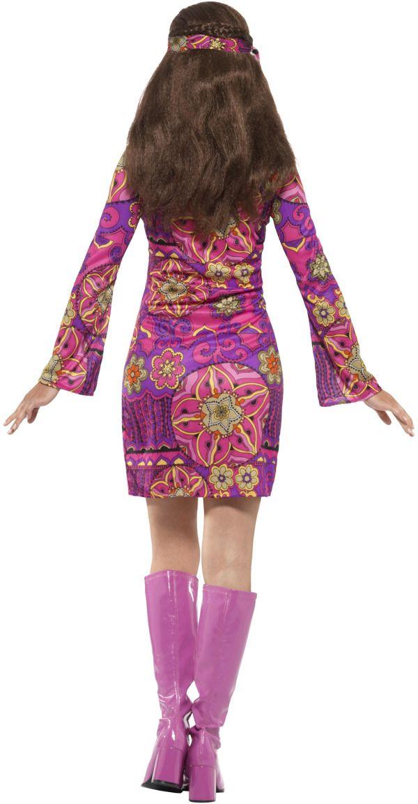 Hippie chick jurkje paars