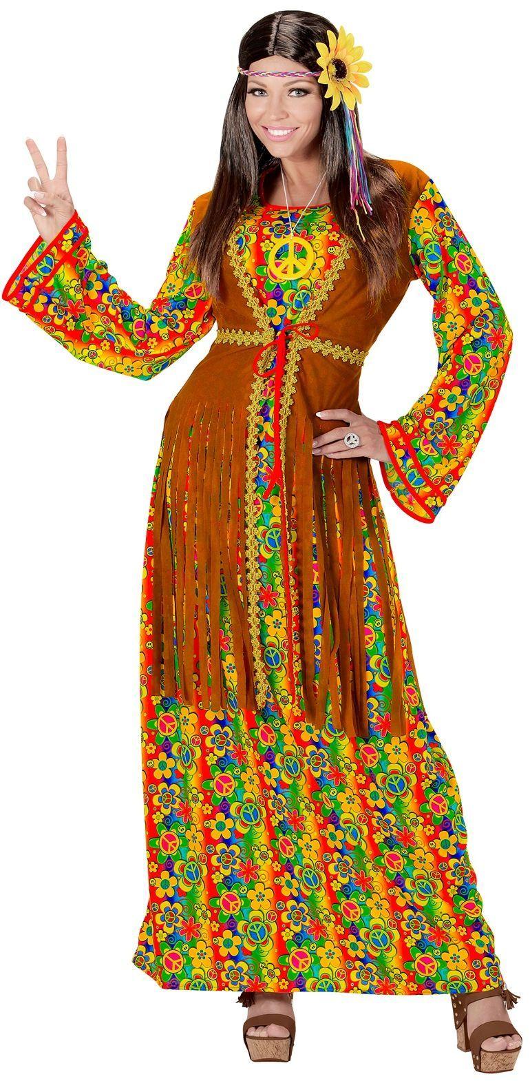 Hippie dames jurk lang