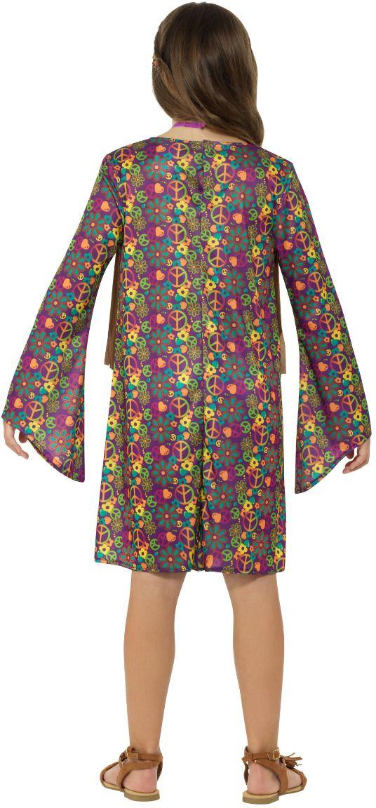 Hippie flower power jurkje meisjes
