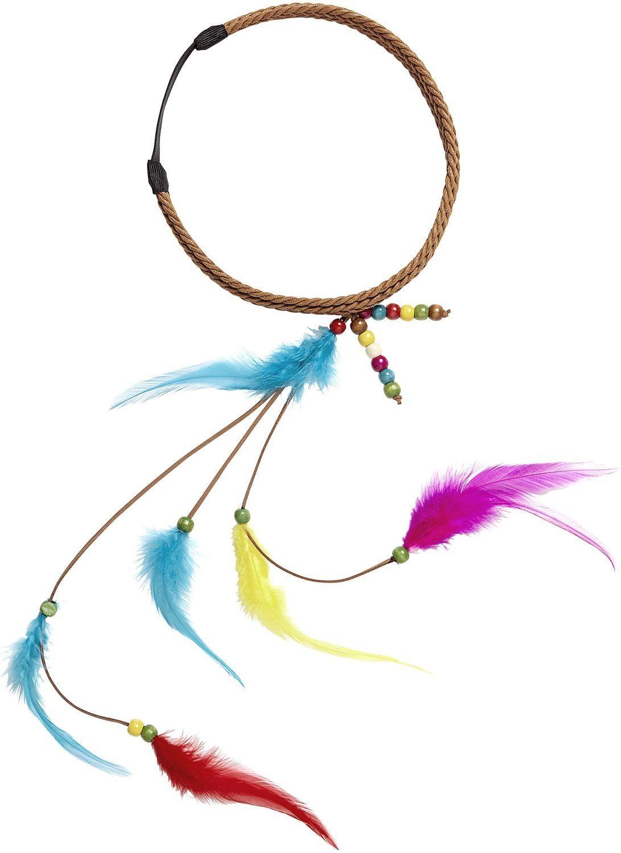 Hippie hoofdband met kralen en veren