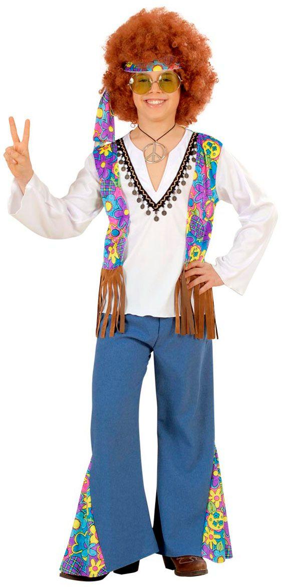 Hippie Jongen Woodstock kostuum