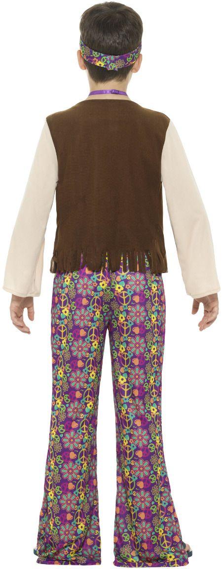 Hippie jongens outfit bloemen