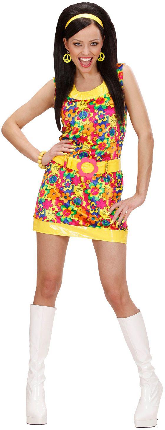 Hippie jurk dame fluweel