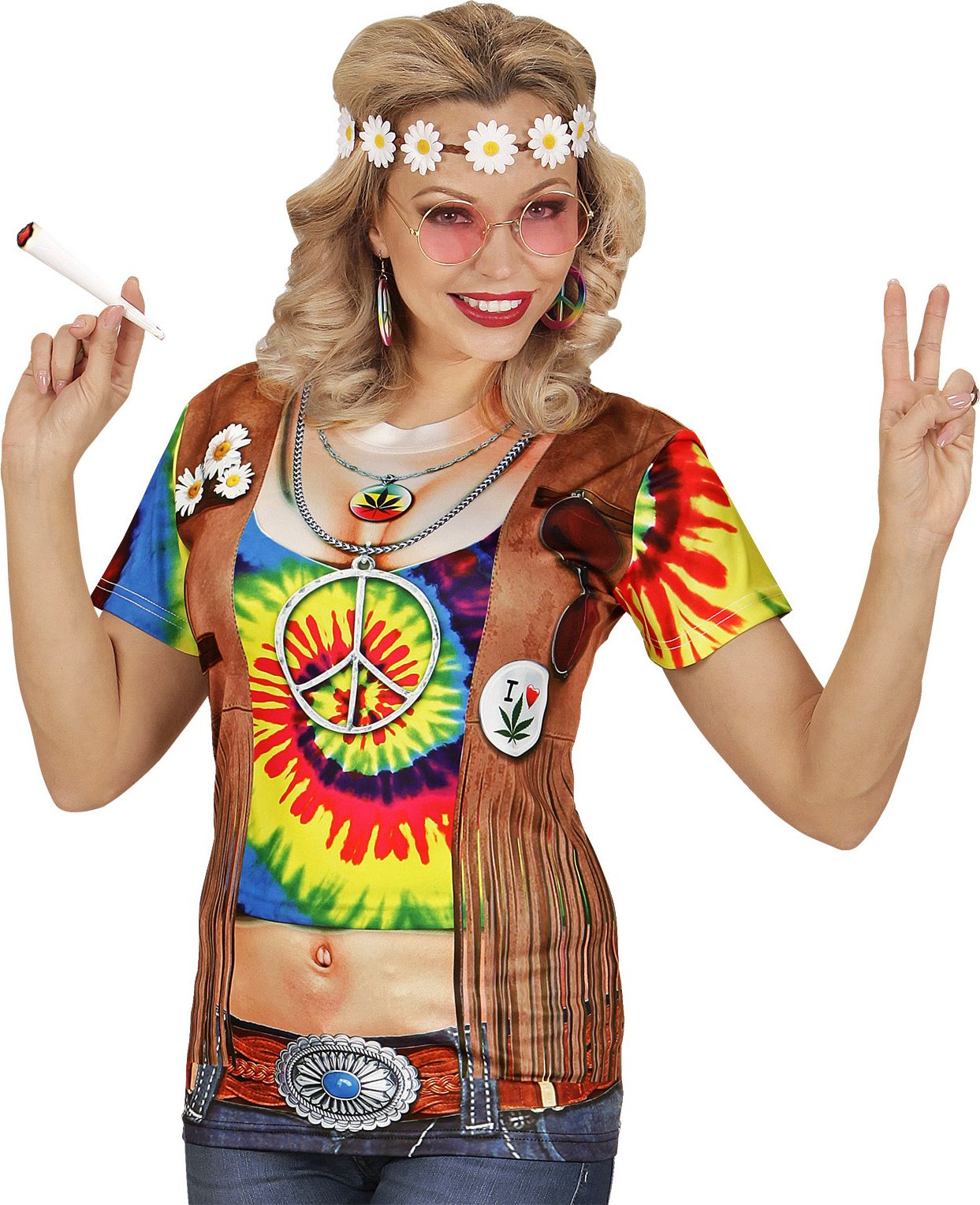Hippie shirt dames