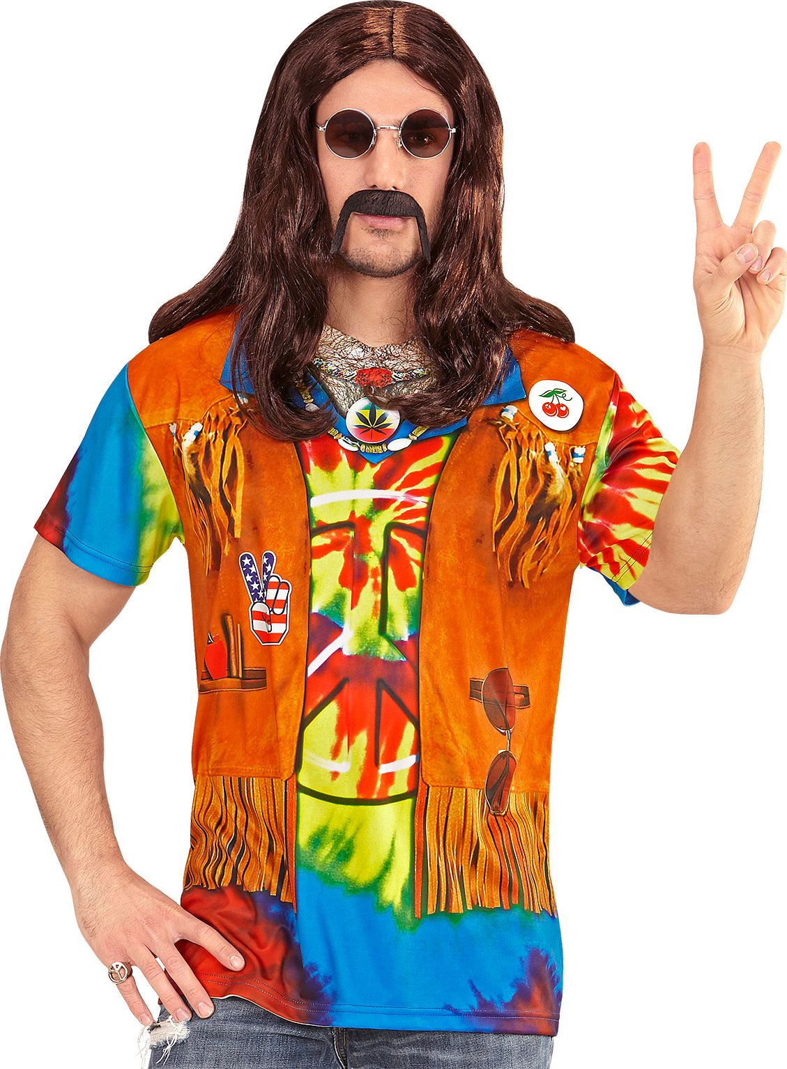 Hippie shirt man