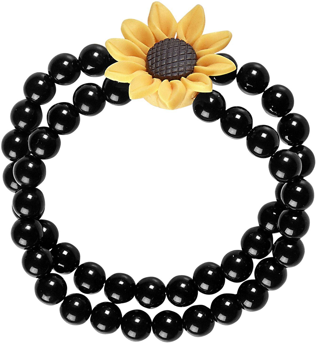 Hippie zonnebloem armband dames