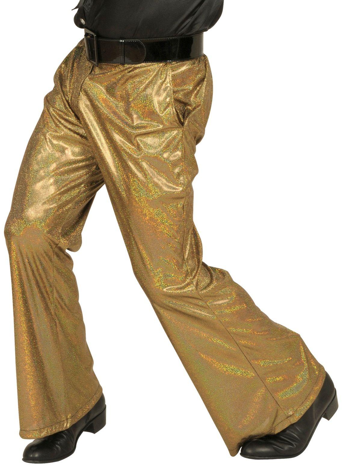 Holografische Broek Goud