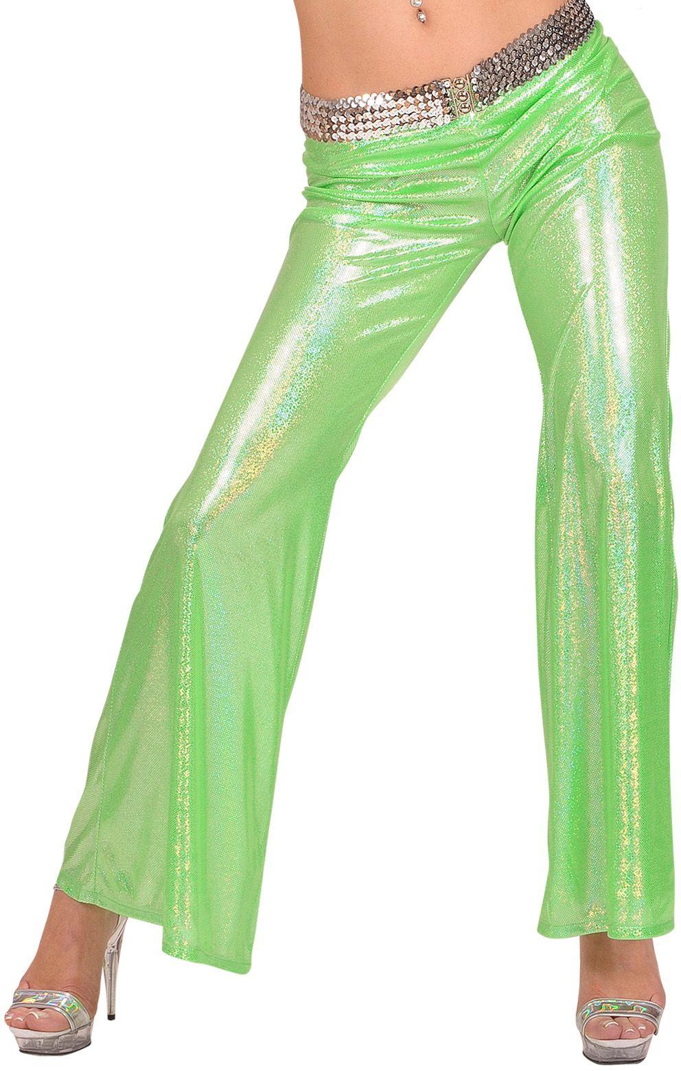 Holografische groene broek