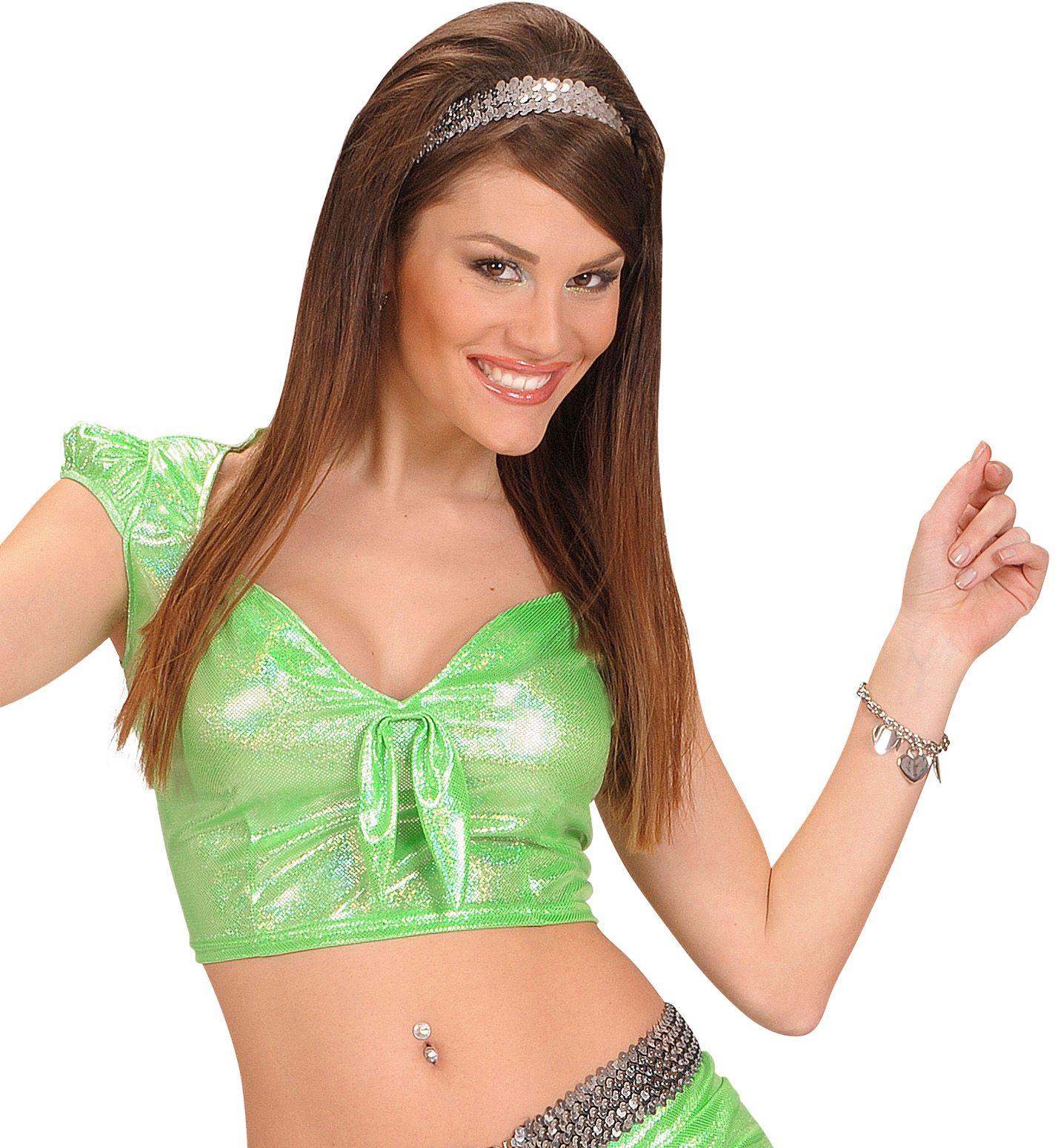 Holografische top groen