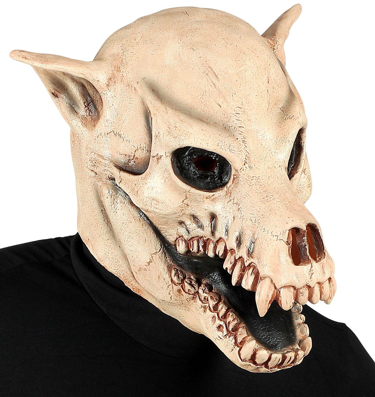 Honden schedel masker Halloween