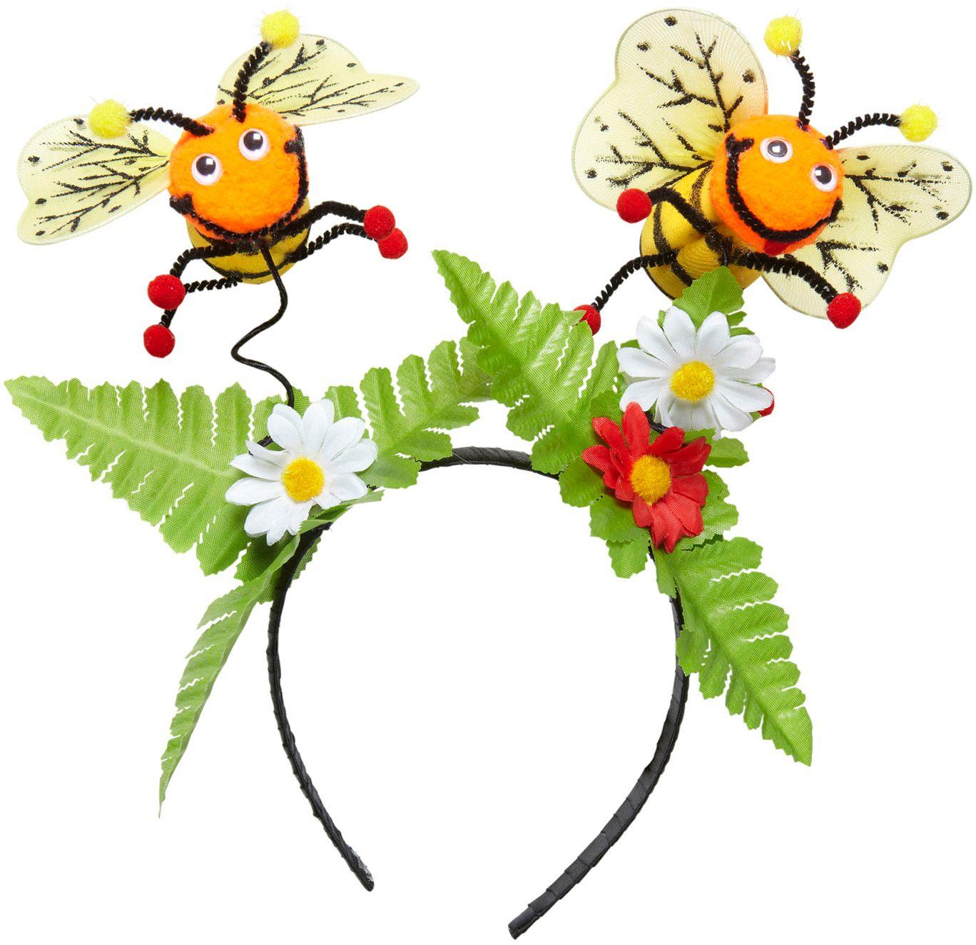 Hoofdband met bijtjes en bloemen