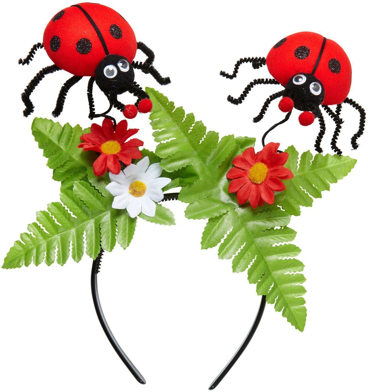 Hoofdband met lieveheersbeestjes met bloemen
