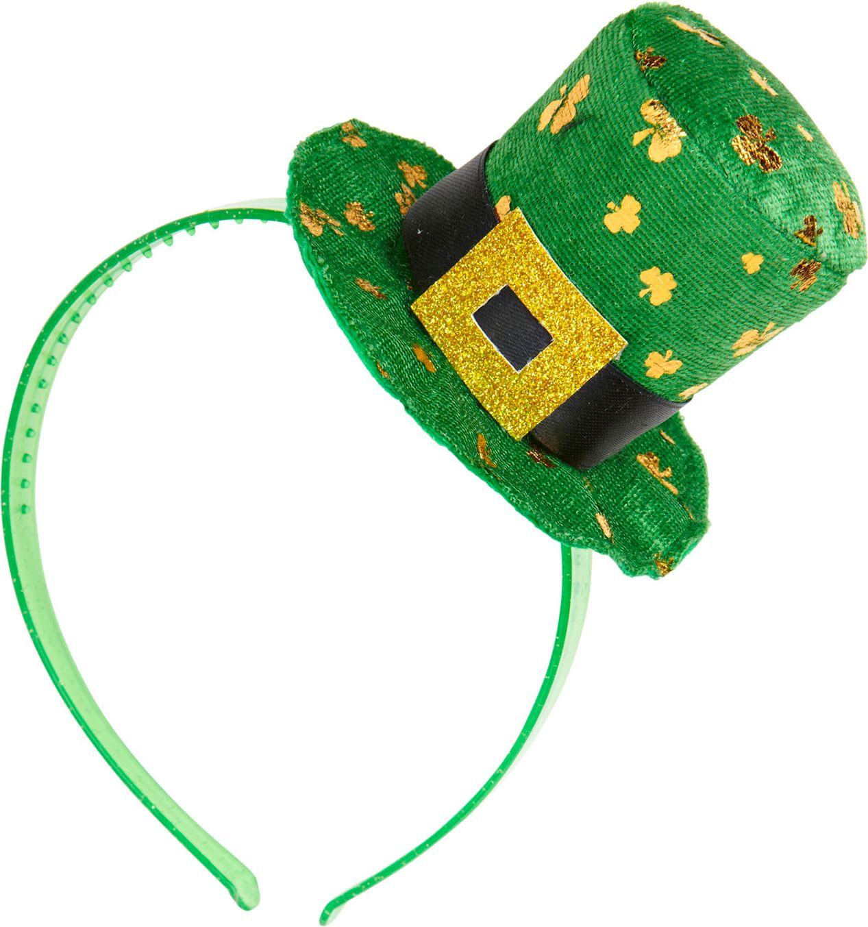 Hoofdband met St. Patricksday mini hoge hoed