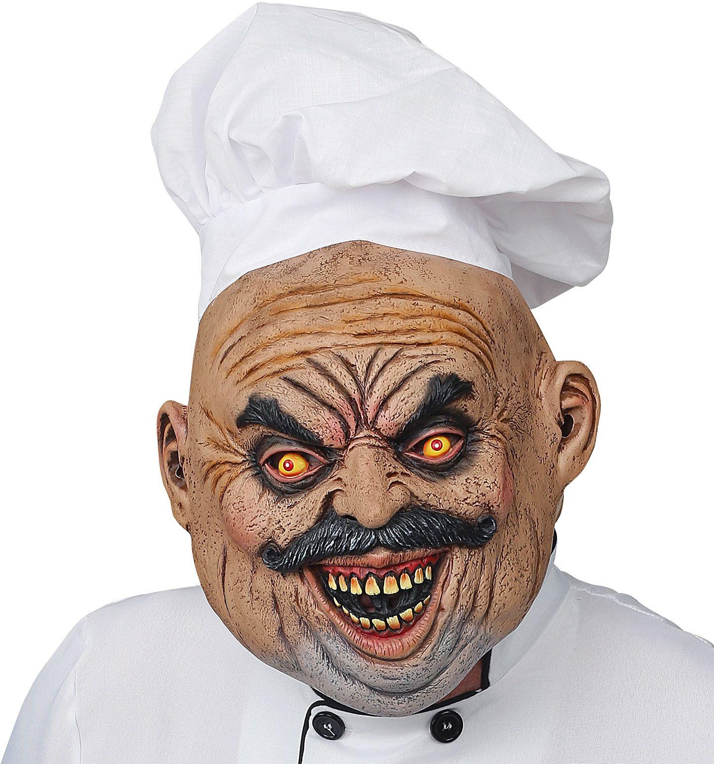 Horror kok masker met koksmuts