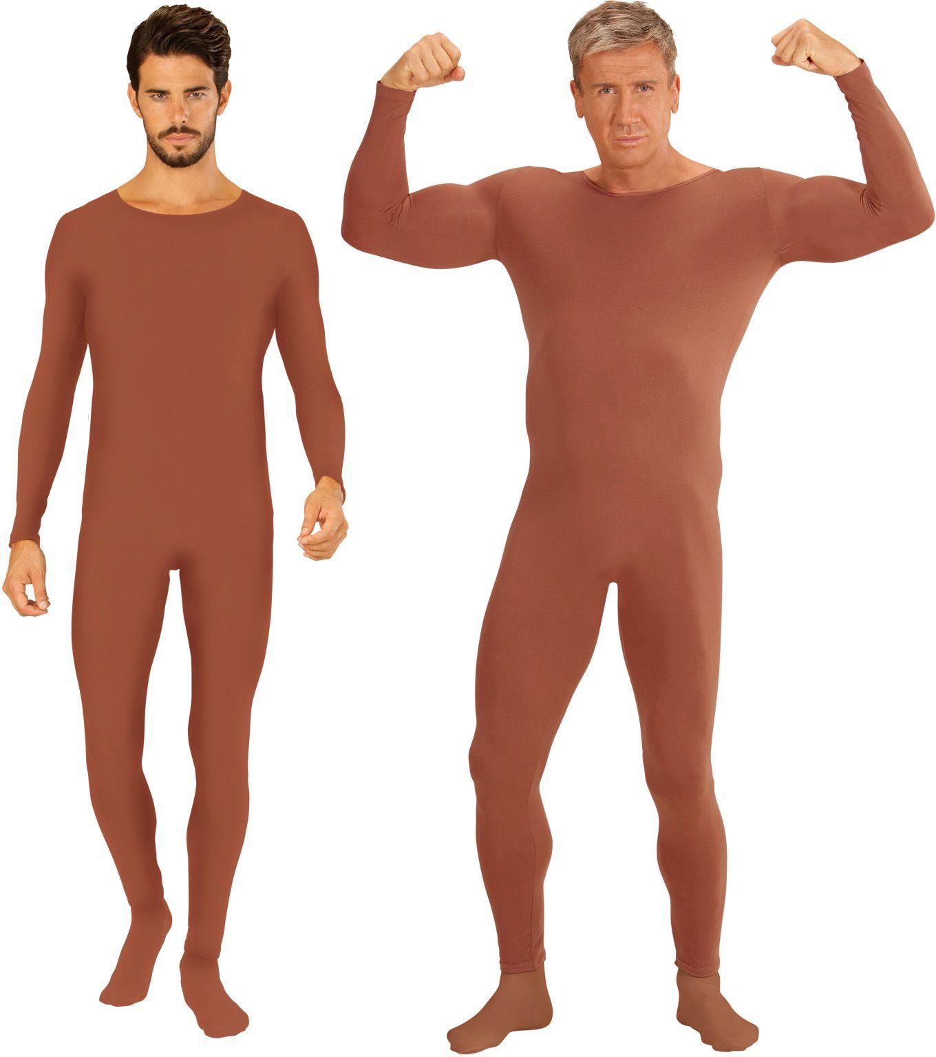 Huidskleur bodysuit heren