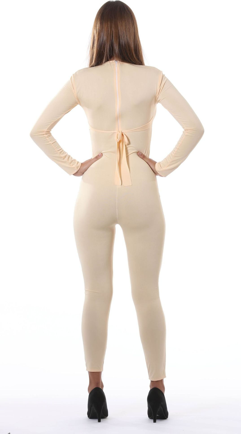 Huidskleur dames bodysuit
