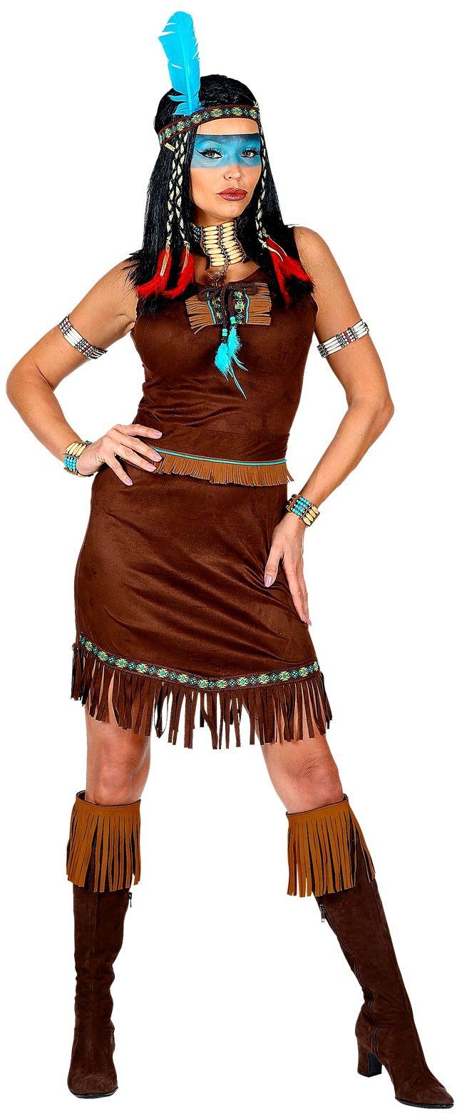 Indiaan jurkje dames bruin