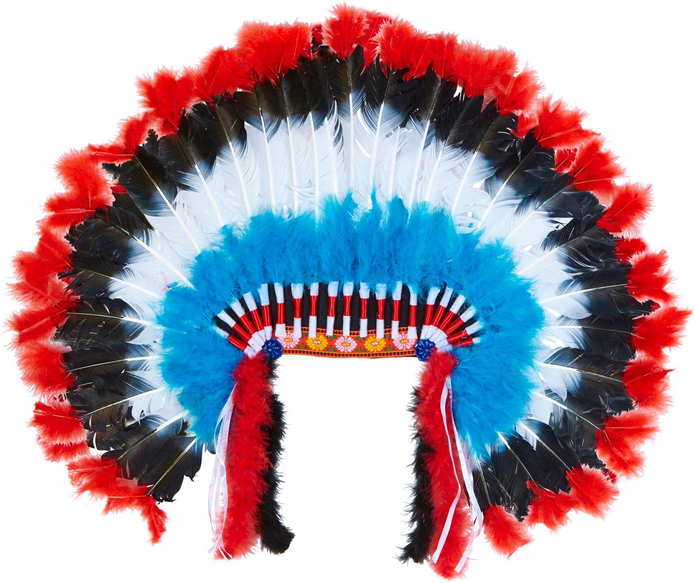 Indianen hoofdtooi met marabou