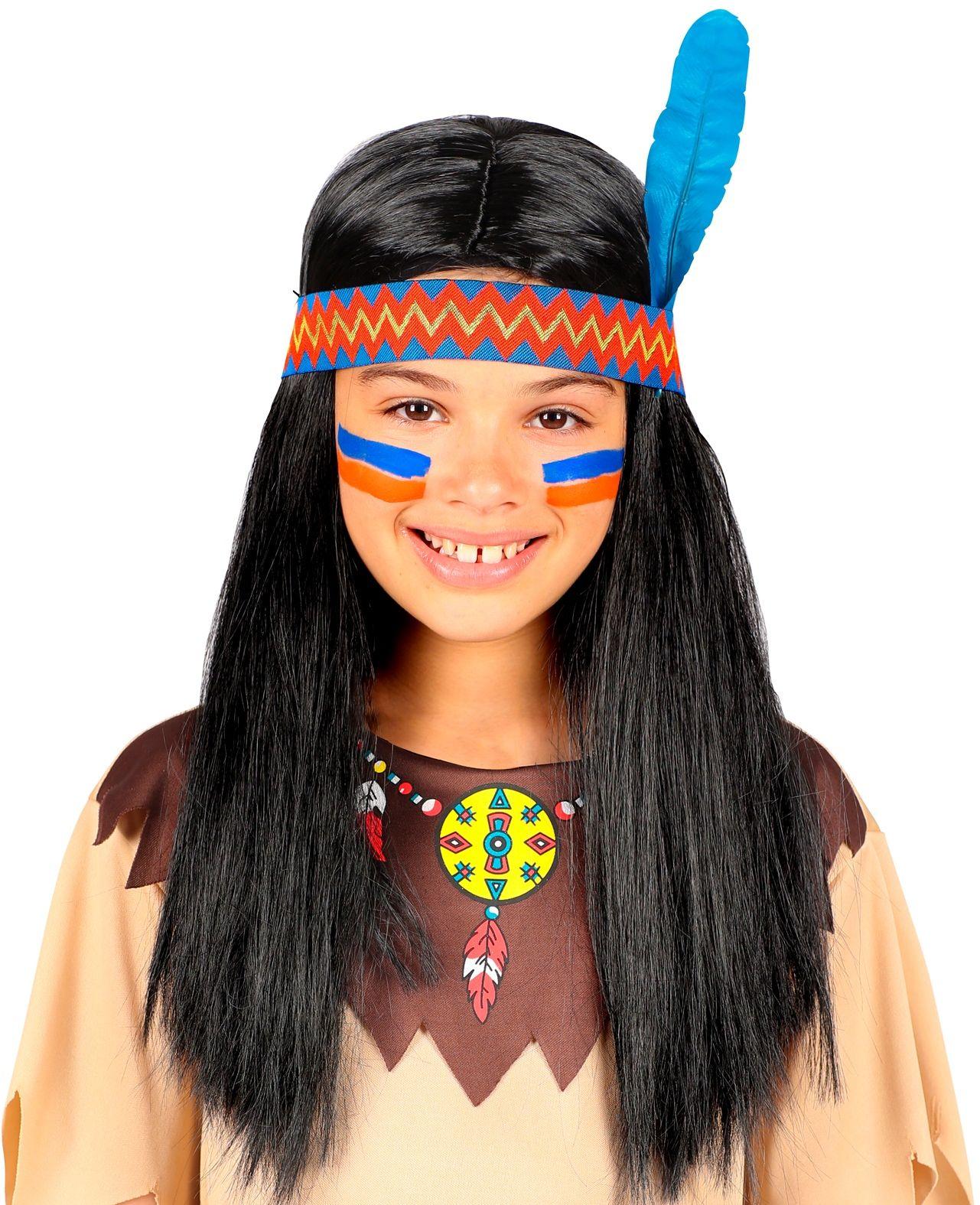 Indianen pruik meisje