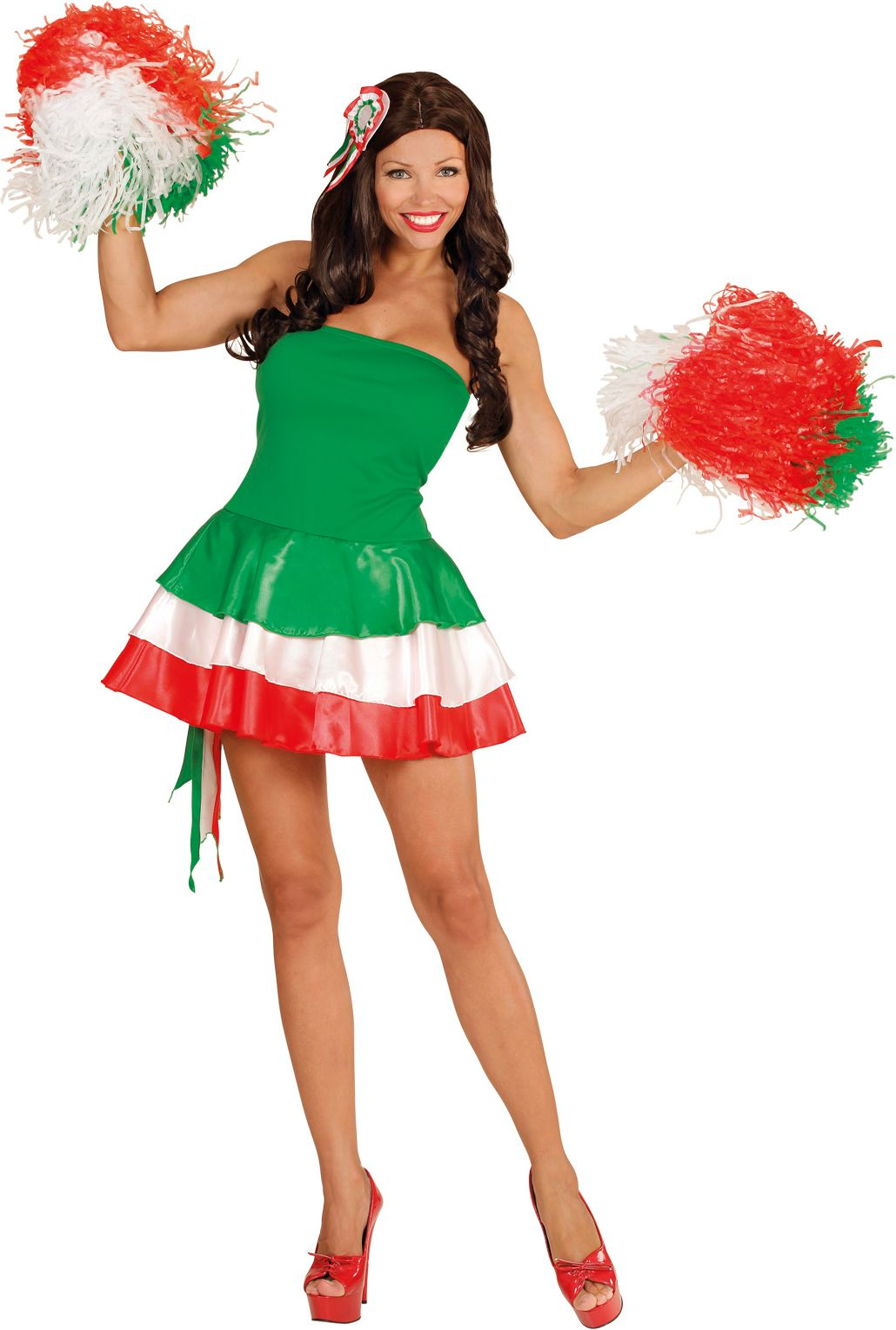 Italiaans jurk met haarstukje