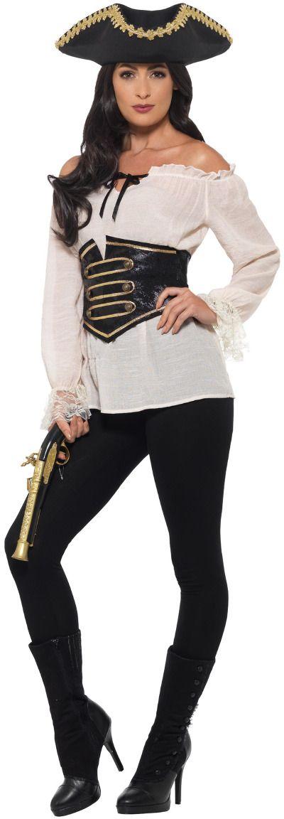 Ivoor luxe piraat shirt dames