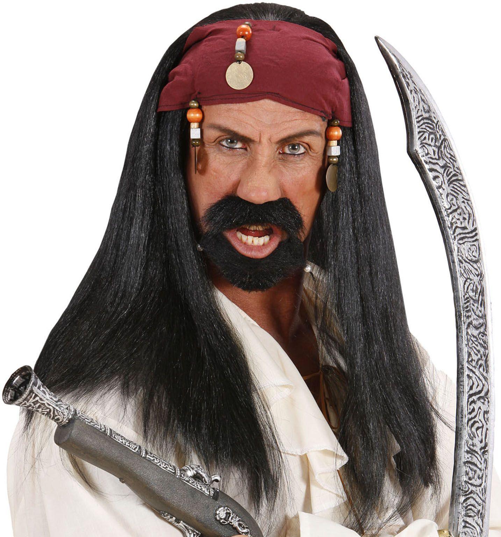Jack Sparrow pruik met bandana