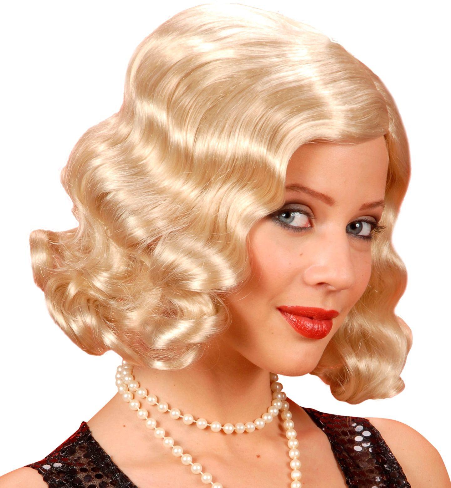 Jaren 20 blonde pruik