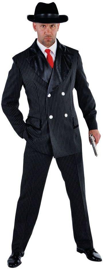 Jaren 20 gangster kostuum mannen