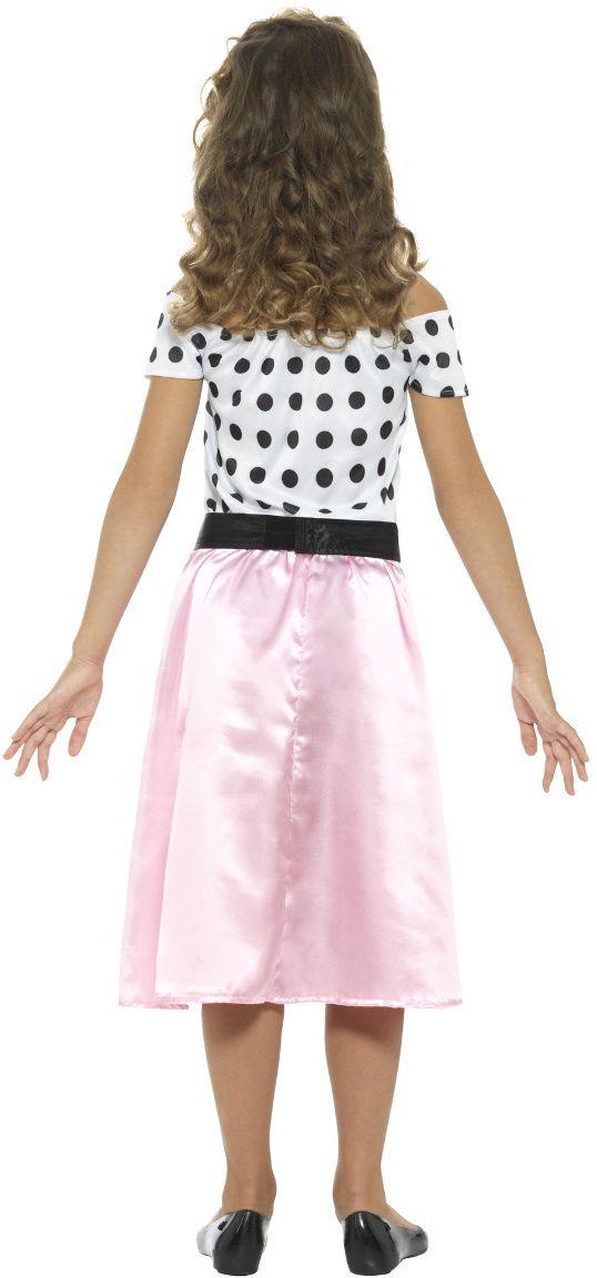 Jaren 50 grease jurkje roze