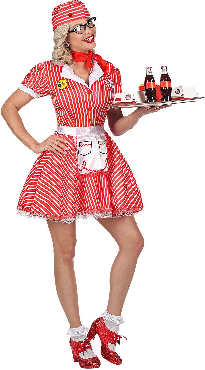 Jaren 50 serveersters pakje dames