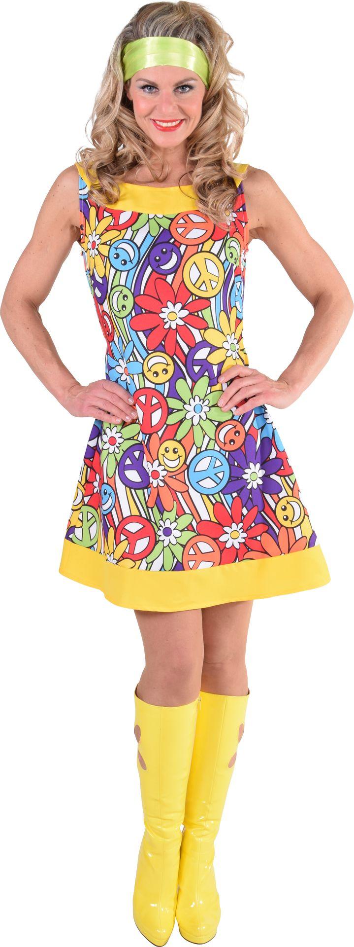Jaren 60 hippie jurk dames