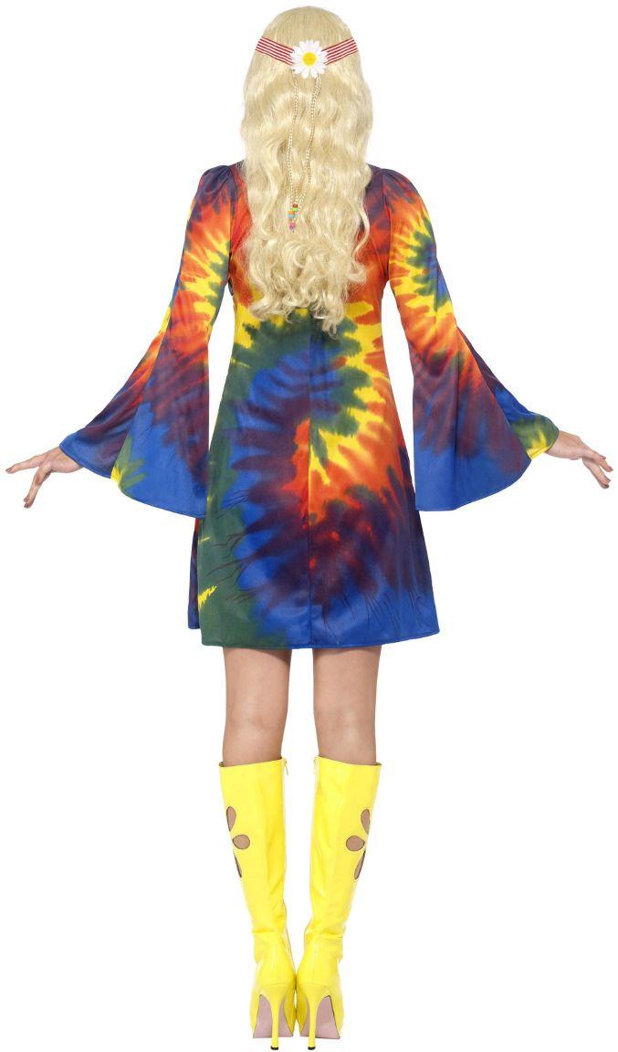 Jaren 60 Tie Dye jurk