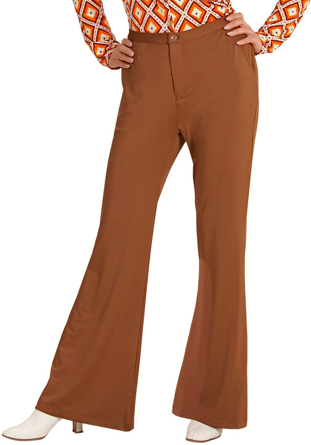 Jaren 70 broek dames bruin