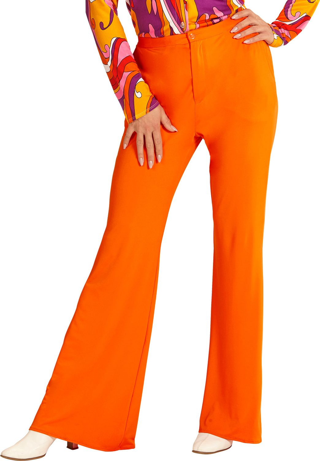 Jaren 70 broek dames oranje