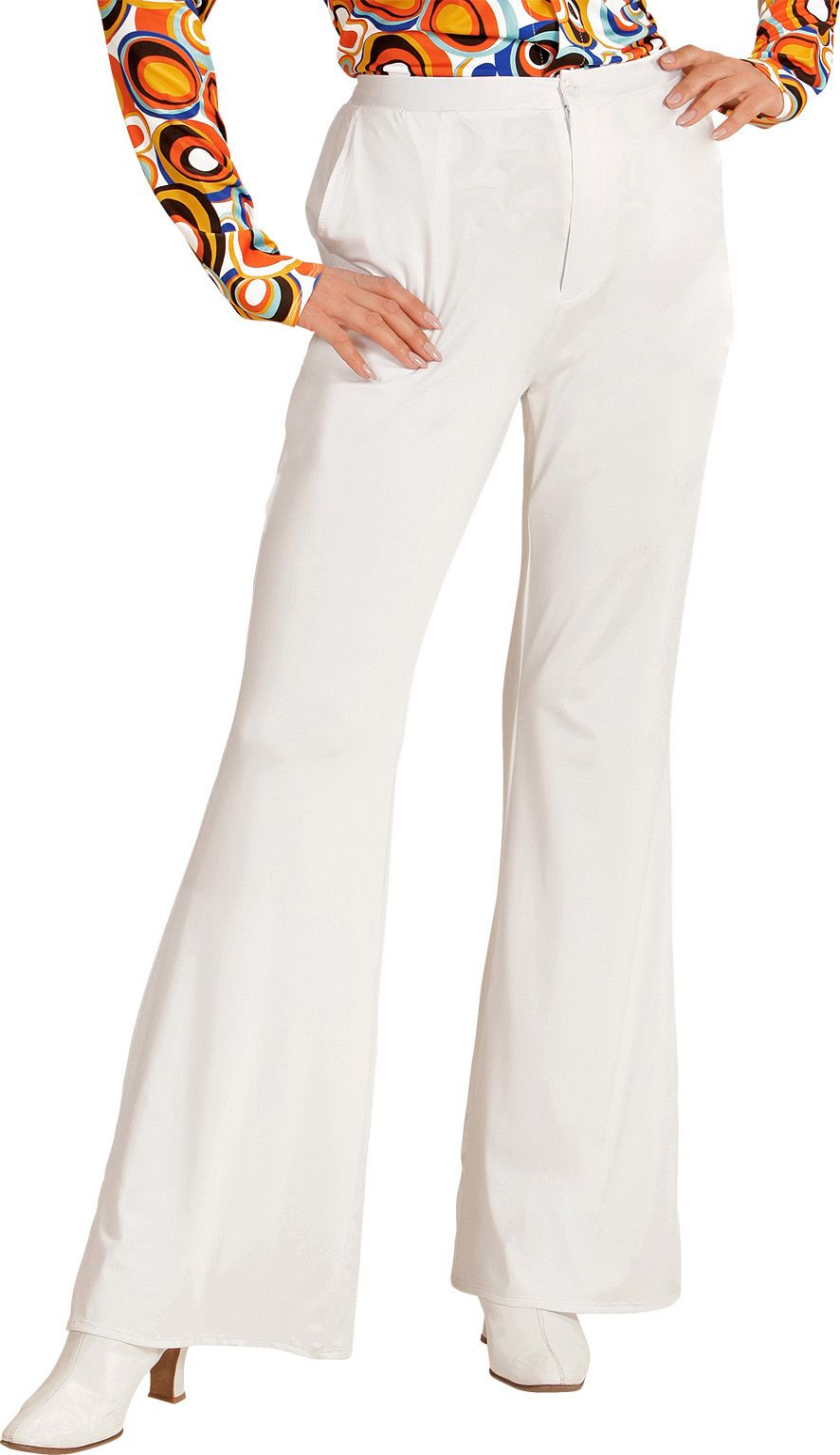 Jaren 70 broek dames wit
