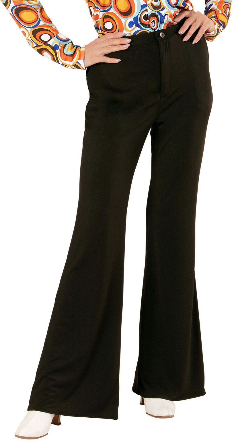 Jaren 70 broek dames zwart