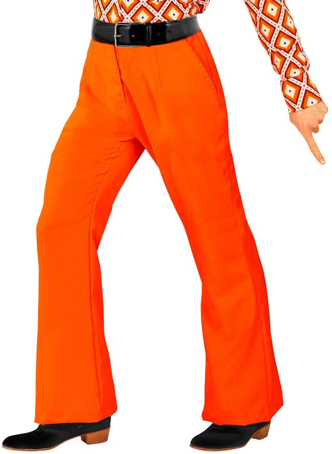 Jaren 70 broek oranje