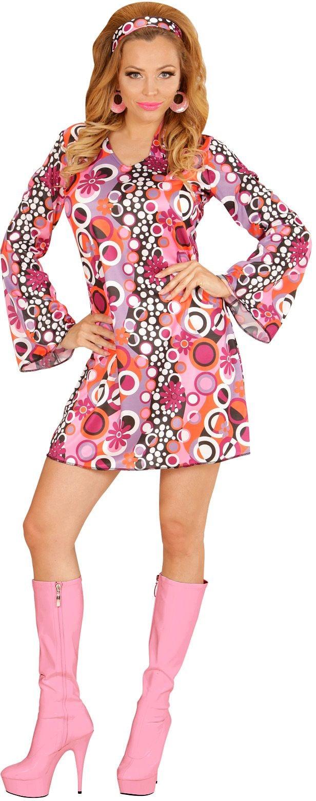 Jaren 70 groovy jurk