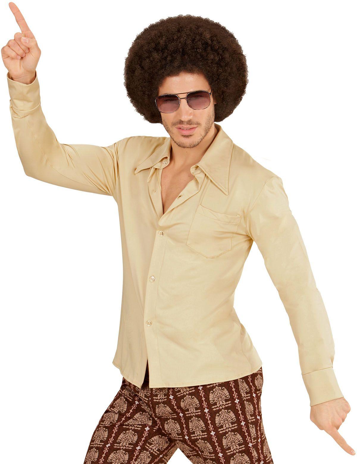 Jaren 70 shirt beige