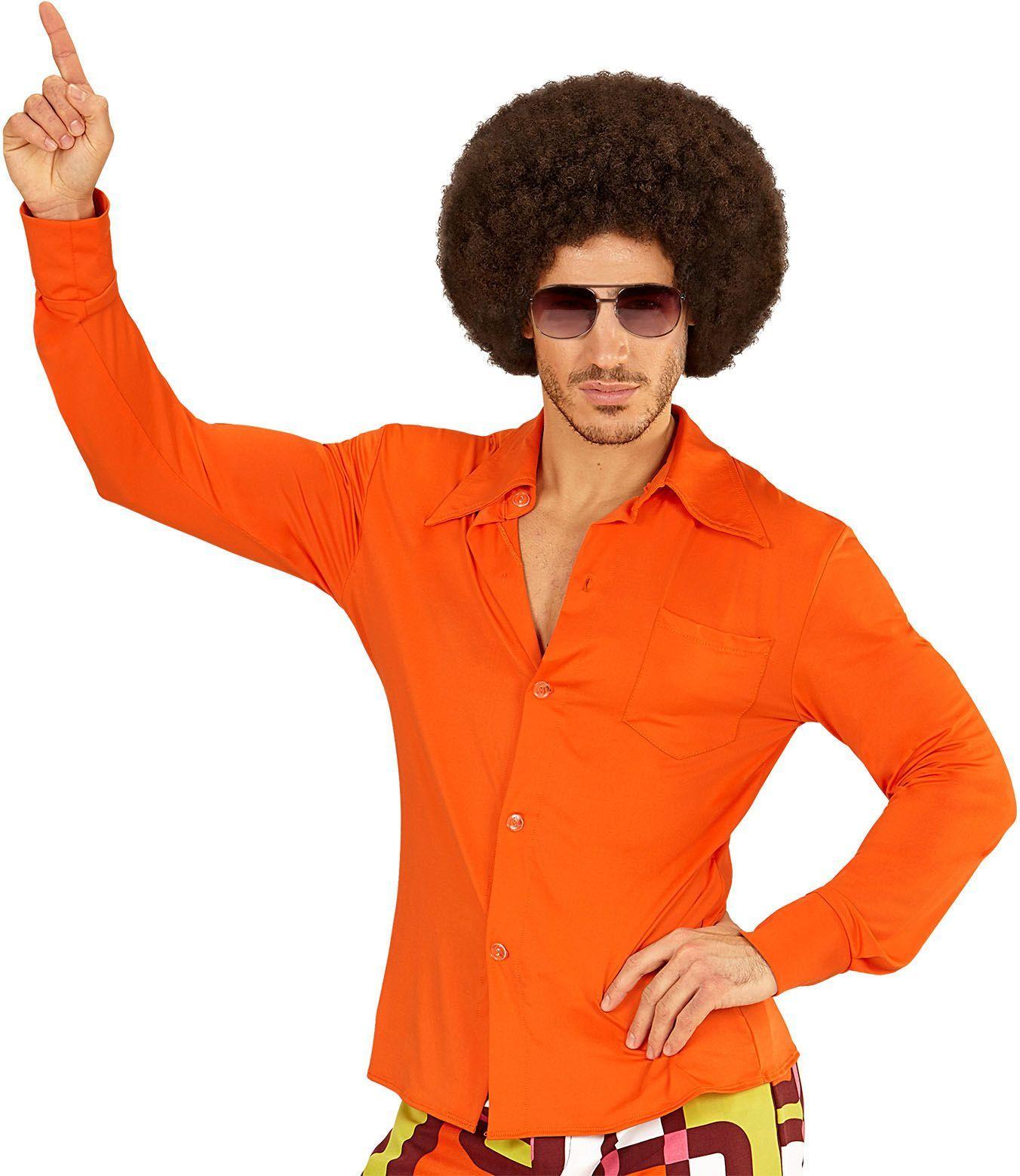 Jaren 70 shirt oranje