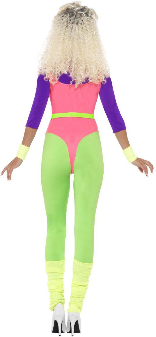 Jaren 80 neon fitness jumpsuit
